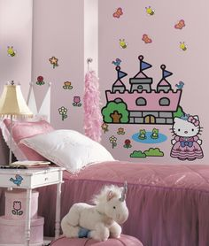 Create Your Very Own Custom Hello Kitty Mural With This Set Of Giant Wall  Decals!