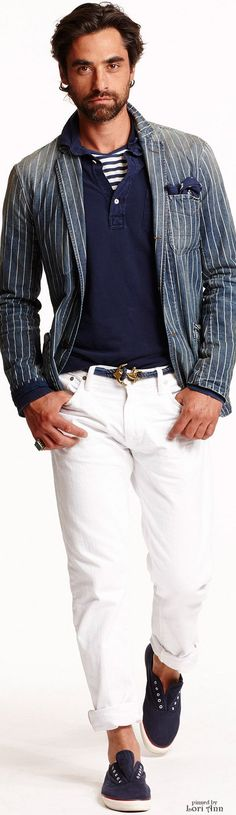 Ralph Lauren Spring 2015 | Menswear | Men's Fashion | Men's Casual Outfit | Moda Masculina | Shop at designerclothingfans.com