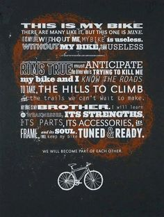 Bike Riders Creed - need a poster of this. RL