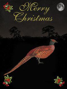 Christmas Pheasant Mixed Media