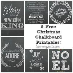 6 Free Christmas Chalkboard Printables