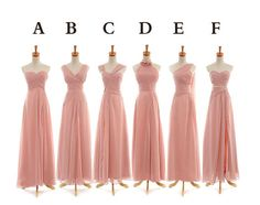 Long cheap bridesmaid dresses custom made by FreePeoples on Etsy, $129.99