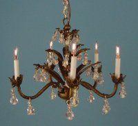 J getzan dollhouse miniature chandeliers wrought iron copperware 5 light bronze chandelier aloadofball Choice Image