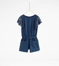 7bcb33c59d Image 1 de Combinaison indigo en guipure de Zara Zara Fille, Kiabi Fille, 14