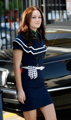 Leighton Meester in Gossip Girl Gossip Girls, Estilo Gossip Girl, Gossip Girl Outfits, Gossip Girl Fashion, Fashion Idol, Fashion Outfits, Blair Waldorf Outfits, Blair Waldorf Gossip Girl, Blair Waldorf Style