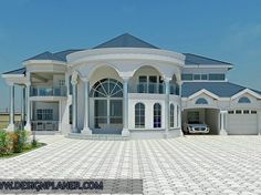 Designed Home Plans - A Turn-key Construction Services New Modern House, Modern Mansion, Modern House Plans, Modern House Design, House Plans Mansion, Dream House Plans, Bungalow House Design, House Front Design, Dream House Exterior