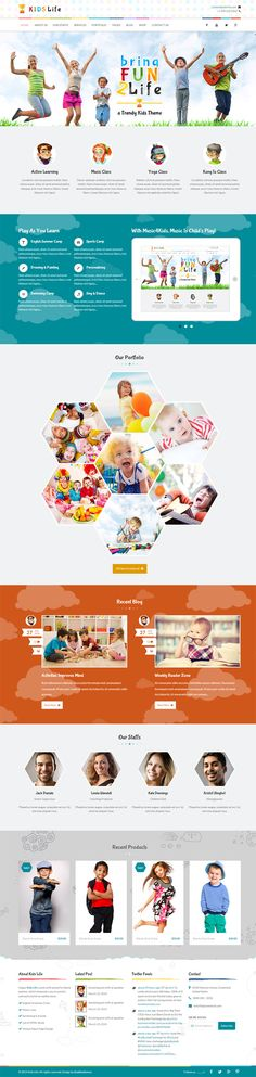 #Kids Life is a beautifully designed HTML #Template for kinder gardens, Day care, preschool and it would suit for any children, art, craft, school & Training Website. This template is beautifully crafted with hadcoded  #HTML5 and CSS3 with amazing animations and parallax effect