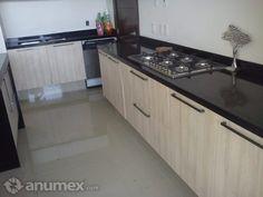 Cubierta de cocina de granito negro de lujo