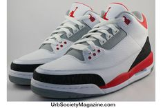 """Today is a great day for Air Jordan 3 fans. The much coveted Air Jordan 3  Retro gets a restock and the Air Jordan 3 """"Fire Red"""" colorway will be  dropping in ... f7c4dc4bcd"""