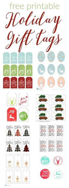 Ingyenes ünnepi ajándék címkék  Ingyenes nyomtatható ünnepi címkék az egyszerű ajándékcsomagoláshoz.  Van olyan sok ingyenes nyomtatható ajándék címke!  Válassza ki stílusát!  TodaysCreativeLife.com