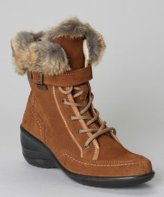 Take a look at this Tan Emilia Boot by Santana of Canada on #zulily today!