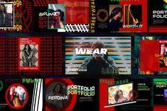 Streetwear Urban - Powerpoint (Graphic) by Fourtyonestd · Creative Fabrica Game Design, Web Design, Ticket Design, Website Design Inspiration, Presentation Design, Presentation Templates, Keynote Design, Image Theme, Design Inspiration
