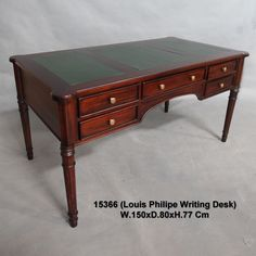 Merveilleux Solid Mahogany Wood Louis Philippe French Writing Desk Antique Style  Antique Writing Desk, Office Desks
