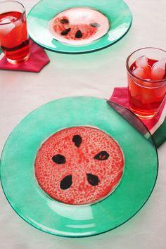 DIY Watermelon Plates
