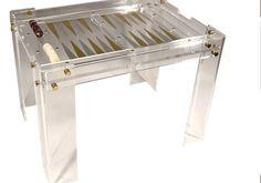 Lucite Backgammon Table