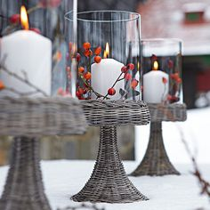 indoor/outdoor decor idea for your winter wedding ceremony or reception!