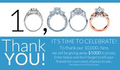 I just entered to win a prize from Wedding Day Diamonds! Click on this link so you can have a chance to win too! I'll get an extra entry if you follow my lead.