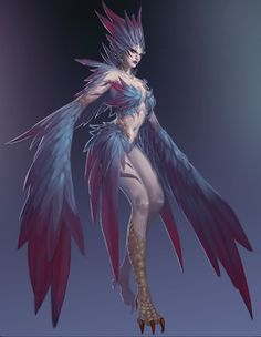 Harpy - Greek and Roman mythology - a female monster in form of a bird with a human face