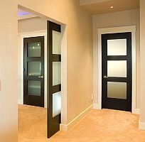 i'm not into the modern-ness of this, but i am liking the pocket doors.  i see a use for this.