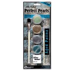 Ranger Ink    Perfect Pearls Embellishing Pigment Kit    Aged Patina    $15 (singles are $2.99)    Scrapbook.com