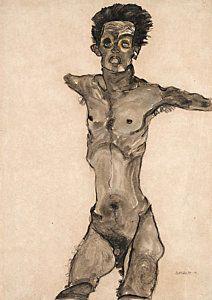 In celebration of The Courtauld Gallery's wonderful exhibition of his nude portraiture, we present five facts about Egon Schiele Egon Schiele Tattoo, Egon Schiele Drawings, Gustav Klimt, Life Drawing, Figure Drawing, Painting & Drawing, Egon Schiele Zeichnungen, A4 Poster, Poster Prints