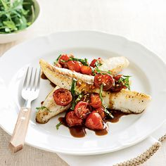 This quick and healthy fish recipe is brought to life by the classic flavour pairing of balsamic and tomato.