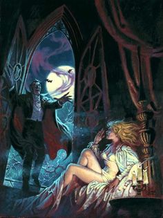 Cover art by Luis Angel Dominguez, for Marvel's Dracula Lives Sexy Horror, Gothic Horror, Arte Horror, Horror Art, Horror Films, Goth Art, Horror Comics, Marvel Comics, Classic Monsters