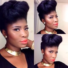 Regal Natural updo shared by Virginia - http://www.blackhairinformation.com/community/hairstyle-gallery/updos/regal-natural-updo-shared-virginia/ #naturalhair #updo #regal