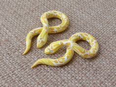 Yellow Python Gauges by TheCreatorsCreations on Etsy, $45.00