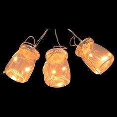 Lichterkette 6 x Einmachglas 18 Led Lichtgirlande mit 6 Gläsern und je 3 LED Lichter pro Glas. von D-M-C Design, günstig kaufen bei KochShop - Schwei… Led Licht, Mason Jar Lamp, Light Bulb, Outdoor Living, Table Lamp, Design, Decor, Glass Material, Xmas Lights