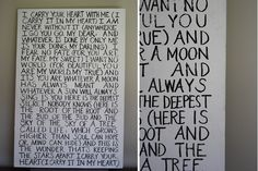 DIY Large-Scale Quote on Canvas