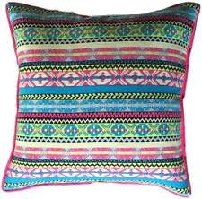 Cushion Cover - Aztec Design 45cm Square Rainbow Bohemian