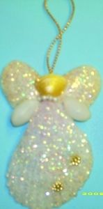 Angel Seashell Christmas Ornament
