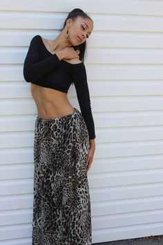 4a80fb1dca Maxi skirt with an off the shoulder crop top! Classy xo