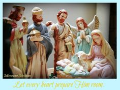 Do you see the Christ? Let every heart prepare Him room this Christmas and every day.