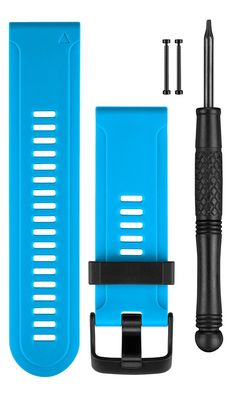 Garmin Replacement Watch Bands - Blue Silicone. Garmin Replacement Watch Band For Fenix 3/Hr, Quatix 3,.