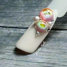 Glass Jewelry, Stone Jewelry, Nail Candy, Flower Ball, Brokat, 3d Nail Art, Beautiful Nail Art, Resin Art, Swag Nails