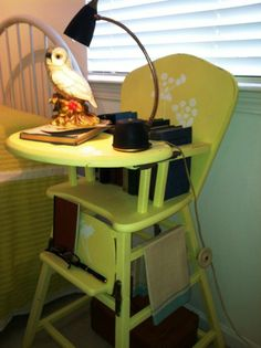 Re Purposed High Chair / Night Stand