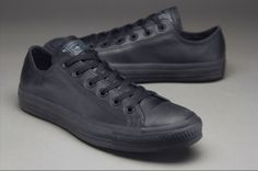 Converse Chuck Taylor All Star Leather - Mens Select Footwear - Black Monochrome
