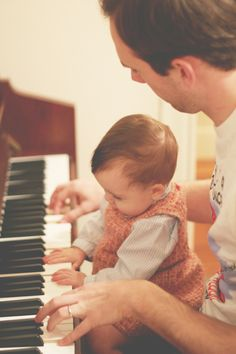 Old piano for mirth & merriment with tiny creatures, friends, & family