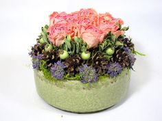 Contemporary Dried Floral Arrangement    #dried_flowers  #arrangement
