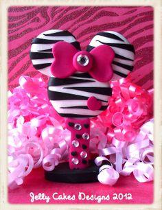 ZebraGlam Minnie Mouse Keepsake Cake Topper by jellycakesdesigns, $35.00