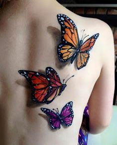 butterfly tattoo, tattoos и flower tattoos. Butterfly Tattoos For Women, Butterfly Back Tattoo, Butterfly Tattoo Designs, Dragonfly Tattoo, Tattoo Flowers, 3d Flower Tattoos, Realistic Butterfly Tattoo, Butterfly Mandala, Colorful Butterfly Tattoo