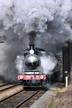 An old fashioned steam locomotive. Want to see the difference between then and now? Visit: http://www.capitolcorridor.org/