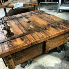 reproduction antique warehouse cart tutorial - he also has another