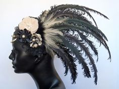 Hey, I found this really awesome Etsy listing at http://www.etsy.com/listing/91768816/made-to-order-black-cream-feather