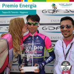 Prima gioia per Diego Ulissi. Oltre alla tappa anche lo speciale Premio Energia GDF SUEZ.