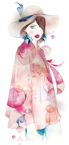 Fashion illustration on Artluxe Designs.