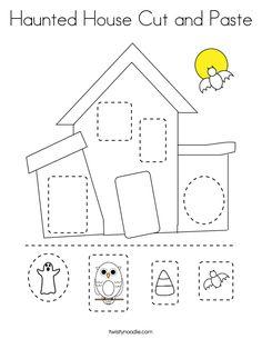 Cutting Activities For Kids, Halloween Activities For Kids, Color Activities, Fall Preschool, Preschool Crafts, Science Crafts, Theme Halloween, Halloween Kids, Halloween Worksheets