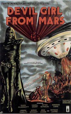 DEVIL GIRL FROM MARS - 1960s B Movie Posters Wallpaper Image